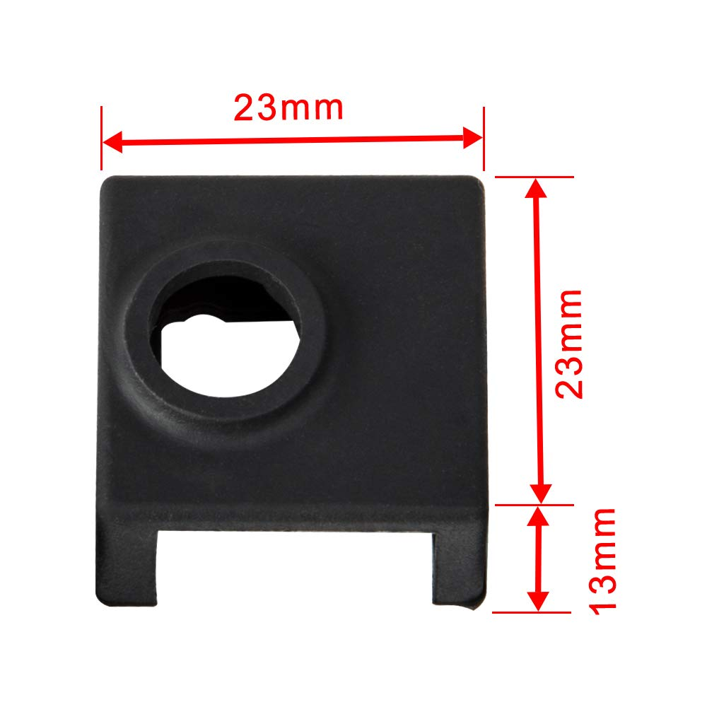 4PCS Creality 3D Printer Hotend Silicone Sock Heater Block Silicone Cover for Creality Ender 3 Ender 3 Pro Ender 5 CR-10 10S S4 S5