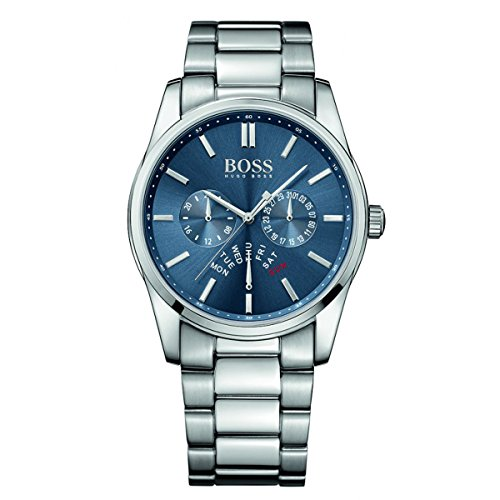 Hugo Boss 1513183 Aeroliner Blue Dial Stainless Steel Chrono Quartz Male Watch