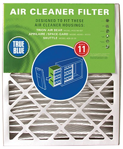 Price comparison product image True Blue YRACFR16X25X4M11 MERV 11 Residential Cleaner Replacement Air Bear Filter,  16 x 25 x 5 (15.75 x 24.25 x 4.88)
