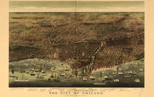 Historic Panoramic Maps of Illinois on CD (Panoramic Illinois Map)