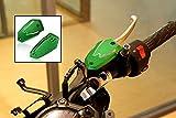 ayouyue Motorcycle Aluminum Front Rear Brake Fluid Reservoir Cap Cover For Kawasaki 2013-2016 13-16 Z800 2009-2014 09-14 ER6N/F 2010-2014 10-14 Versys 650 2017 Z900 Z650 Ninja 650 (Green)
