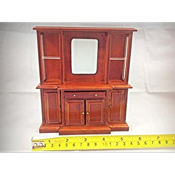 Dollhouse Miniature Living Room Home Furniture Mohogany Wood Drawer Cabinet 1:12