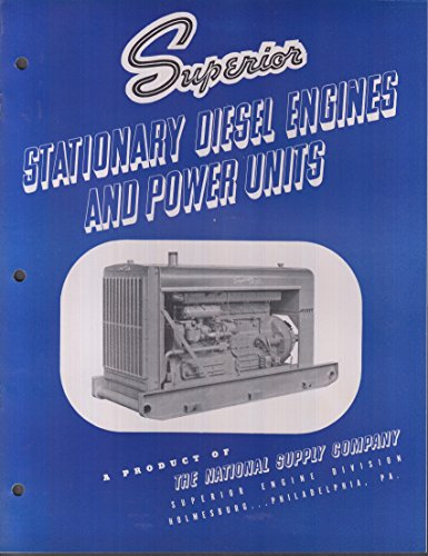 (Superior Stationary Diesel Engines & Power Units catalog 1939)