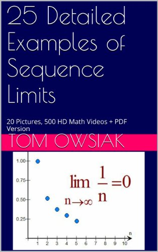25 Detailed Examples of Sequence Limits: 20 Pictures, 500 HD Math Videos + PDF Version (English Edition)
