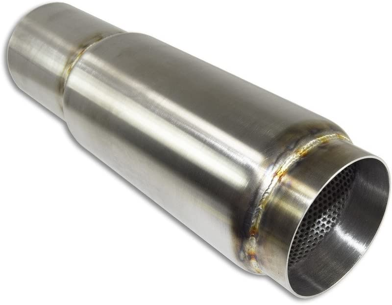 "304 Stainless American Made Extended Exit Race Muffler 4 1//2/""OD x 4/"" Body Length"