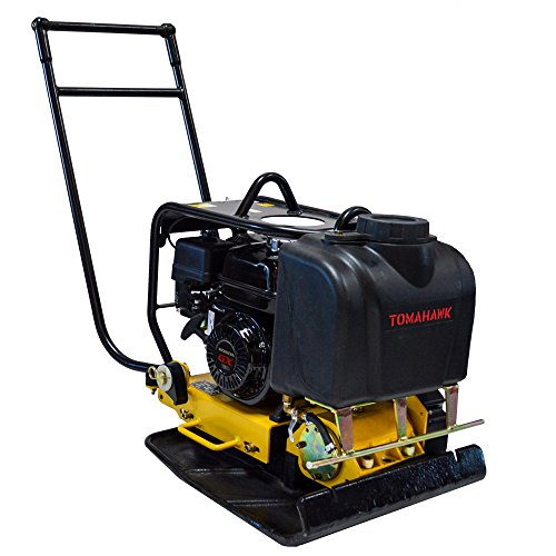 Tomahawk Power 5.5 HP Honda Engine Forward Plate Compactor Walk Behind Vibratory Dirt Asphalt Soil Plate Compactor