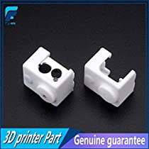 GIMAX V6 Heater Block Fixings Silicone Insulation Sock White Non-Heated Block for V6 PT100 Hotend Warm Keeping Cover - (Size: Sock with Block)