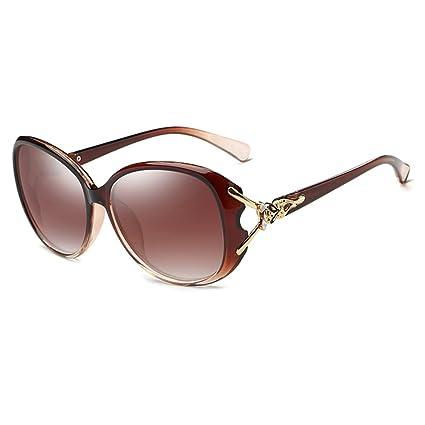 Gafas de sol Gafas De Sol Polarizadas Retro Personalidad Protege tus ojos (Color : Marrón