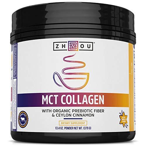 Zhou Nutrition Mct Collagen with Organic Prebiotic Fiber & Ceylon Cinnamon, 13.3 Oz