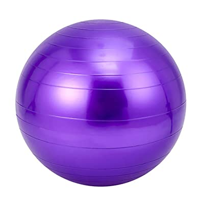 Nihewoo Yoga Ball Exercise Ball Pregnancy Birthing Anti Burst Core Ball Anti Burst and Slip Resistant Balls Gym Ball (Purple): Clothing