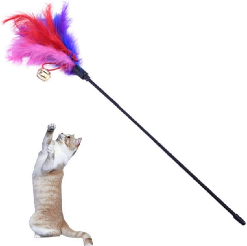 ZUOLUO cat toys for indoor cats cat toys cat toys with feathers cat teaser cat toy stick cat fishing rod toys cat wand toys cat wand b