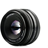 Lightdow 35mm F1.7 APS-C E-mount Prime Manual Lens for Sony Alpha A6000 A5100 A5000 A6300 A6500 NEX-3 NEX-3N NEX-5 NEX-5T NEX-5R NEX-6 Mirrorless Camera (Sony, Black)