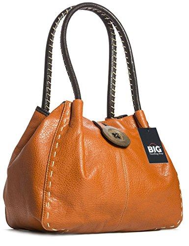 Trendy bolso con gran detalle, bandolera de piel sintética Orange (ST432)