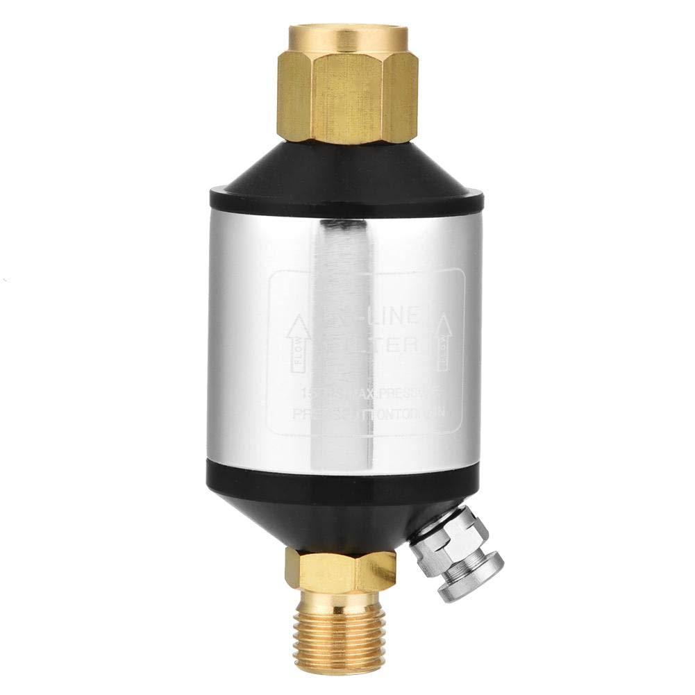 Auslass 90 mm 150 PSI Leicht zu reinigender /Öl-Wasser-Abscheider-Luftleitungsfilter verl/ängert die Standzeit von Druckluftwerkzeugen f/ür Spritzpistolen /Öl-Wasser-Abscheider 1//4NPT-Einlass und