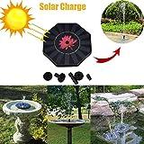 Nesee New Outdoor Solar Powered Bird Bath Aquarium Pool Garden Water Fountain Pump (Black)