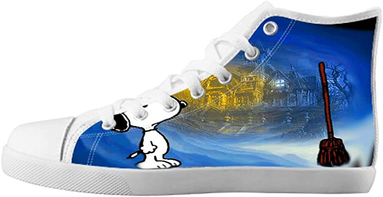 Girl's High Top Canvas Shoes Snoopy