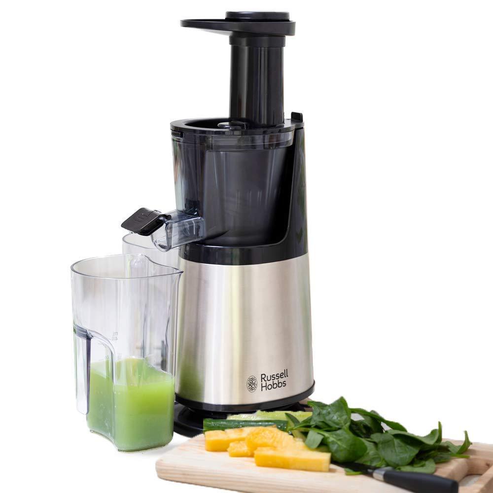 Russell Hobbs Slow Juicer 25170-56 Licuadora de extracción Lenta para zumos, 150 W, Acero Inoxidable, Plateado: Amazon.es: Hogar