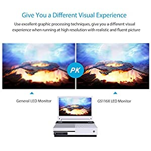 G-STORY 11.6 Inch HDR IPS FHD 1080P Eye-care Portable Gaming Monitor for Xbox One S(not included) With FreeSync, HDMI Cable, Built-in Multimedia Stereo Speaker, UL Certificated AC Adapter