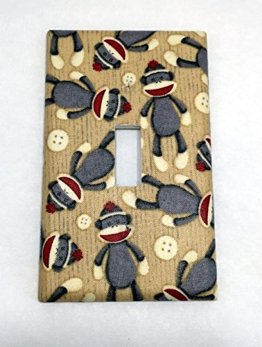 Amazon Com Sock Monkeys Fabric Covered Single Light Switch