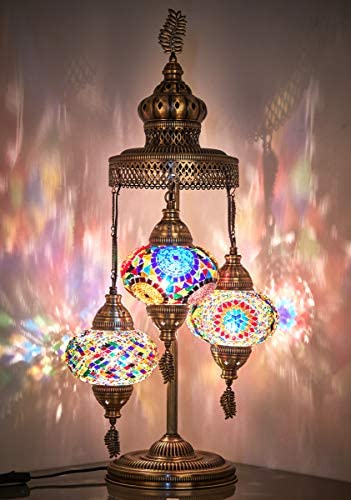 16 Colors Demmex 2020 Tiffany Style Table Lamp
