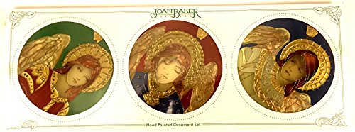 - Set of three Joan Baker Designs Renaissance Angel Christmas, Holiday Ornaments, and Hand painted Glass or Suncatchers