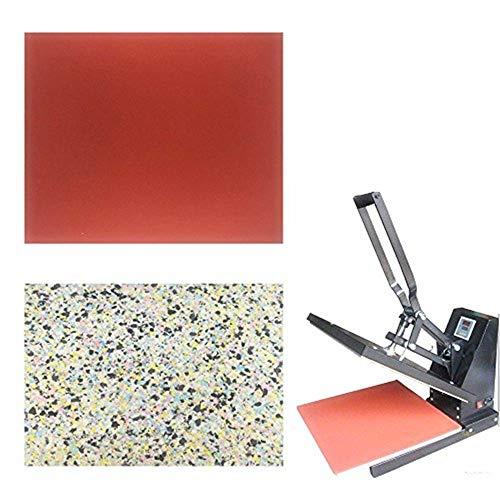 Sarira C High Temperature Resistant Red Heat Press Foam Pad & Multicolor Heat Press Sponge Cushion Mat,Heat Press Machine Transfer Sheets,Extra Thick,2 Pack by Sarira C