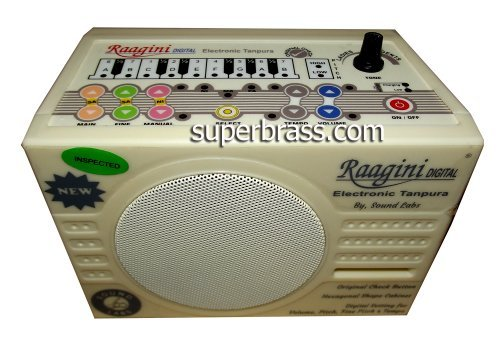 Latest Ragini Raagini Electronic Digital Tanpura Tambura 2013 Edition with 5 YEAR WARRANTY! NEW SPEAKERS! by superbrass.com