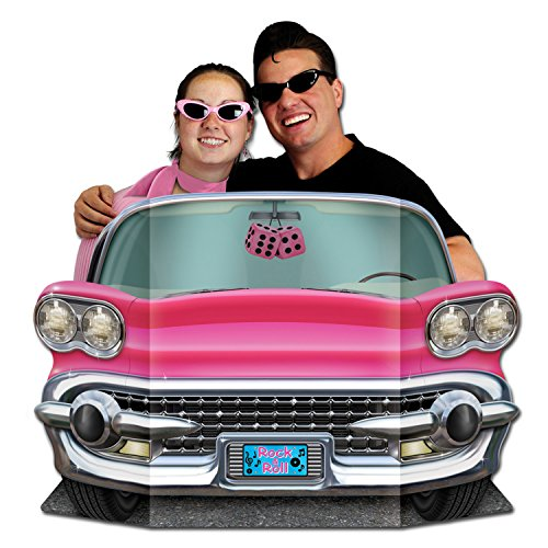 50 Themed Party (Pink Convertible Photo Prop Party Accessory (1 count))