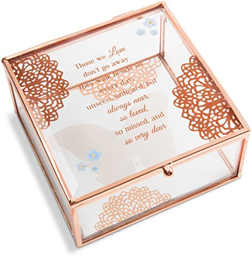 Pavilion Gift Company 19172 Light Your Way Memorial - Always Near, So Loved, So Missed & So Very Dear Glass Keepsake Box (Keepsake Glass)
