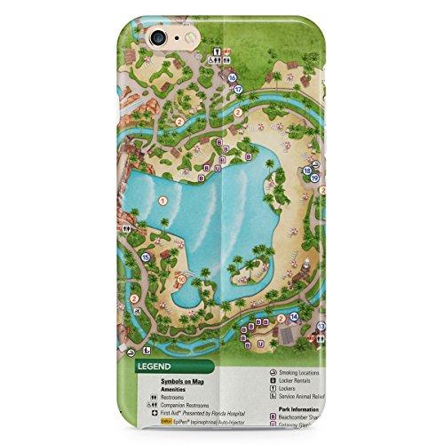 Queen of Cases Hard Shell Phone Case - Typhoon Lagoon - Lagoon Map Disney