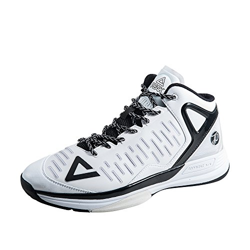 PEAK Mens Tony Parker Signature TP9-II Big Size Basketball Shoes White/Black