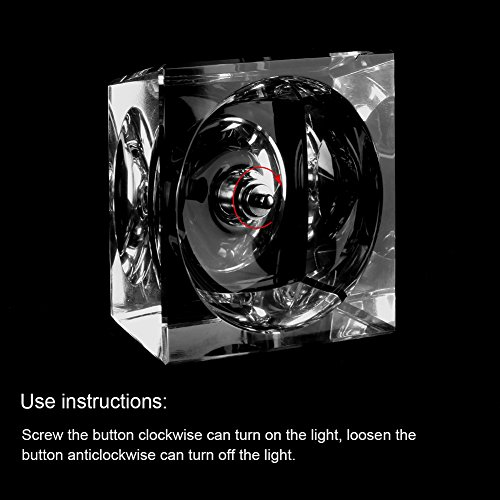 Zulux Solar System Balls - Crystal Ball for Kids with LED Lamp Base, Clear 80mm(3 inch) Glass Sphere for Kids Birthday Gifts, Teacher Gifts,Gift for Anniversary and Boyfriend Birthday by Zulux (Image #4)
