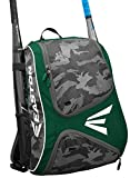 EASTON E110BP Bat & Equipment Backpack Bag | Baseball Softball | 2019 | Green | 2 Bat Sleeves | Smart Gear Storage | Vented Shoe Pocket | Rubberized Zipper Pulls | Fence Hook