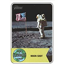 2018 Topps Heritage News Flashbacks #NF-1 Apollo 11 Moon Landing Baseball Card