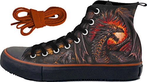 - Spiral - Mens - DRAGON FURNACE - Sneakers - Men's High Top Laceup - M46-13-12