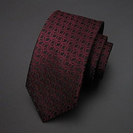 LINGDAI Seda Vestido Formal Negocios Novio Casarse Vino Tinto Tie ...