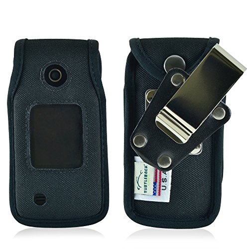 Turtleback Fitted Case Made for LG Terra VN 210 Flip Phone Black Nylon Heavy Duty Rotating Removable Metal Belt Clip Made in USA
