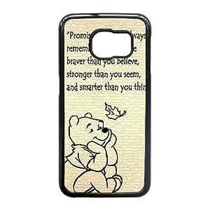 Samsung Galaxy S6 Edge case (TPU), winnie pooh para colorear Cell phone case Black for Samsung Galaxy S6 Edge - FGHJ8961540