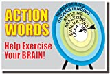 Action Words Help Exercise Your Brain! - Classroom Language Arts Poster