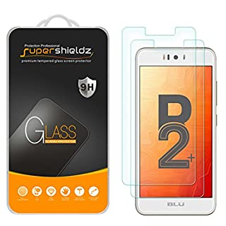 (2 Pack) Supershieldz for BLU (R2 Plus) Tempered Glass Screen Protector, Anti Scratch, Bubble Free