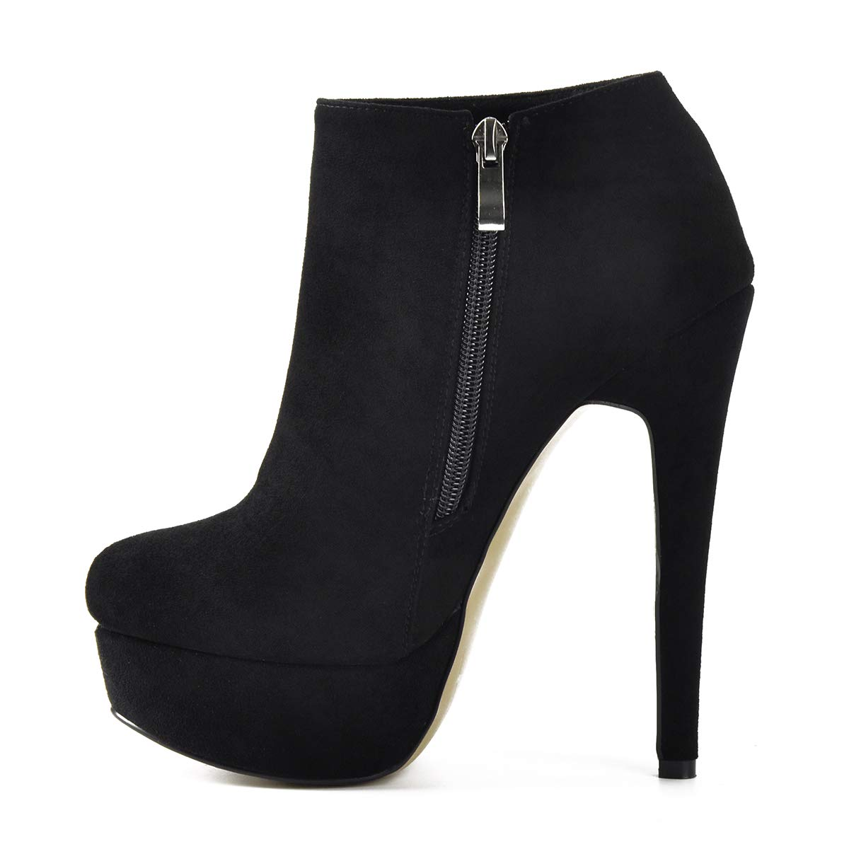 ff08d7c95 Amazon.com | Onlymaker Woman Stiletto Platform Zipper Ankle Boots Pointed  Toe Sexy Lady Short Bootie | Ankle & Bootie