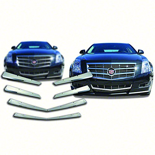 Bully GI-76 ABS Chrome Grille Overlay - 8 Piece ()
