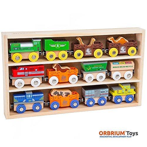 Japan Import Orbrium Toys (Orb helium Toys) wooden rail locomotive 12-piece set Thomas the Tank Engine wooden rail BRIO Chuggington compatible