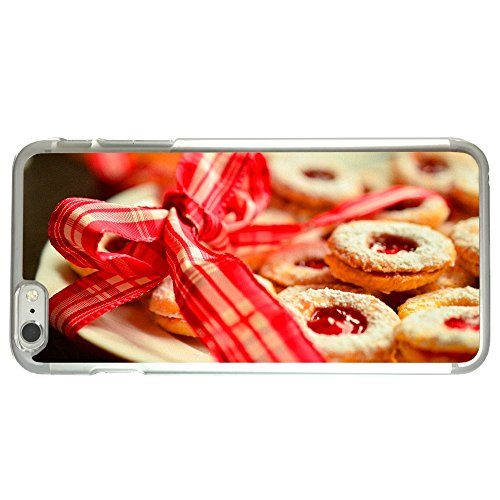 Image Of Christmas Cookies on Golden Tray with Ribbon Apple iPhone 6 Plus / 6S Plus Clear Phone Case