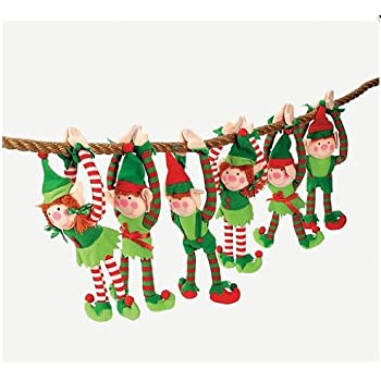 Amazoncom Fun Express Deluxe Plush Hanging Christmas Elves Party