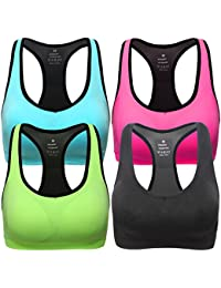 Women Racerback Sports Bras - High Impact Workout Gym Activewear Bra