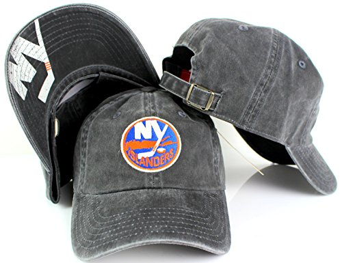 American Needle New Raglan NHL Team Adjustable Hat, New York Islanders, Black (36672A-NYI) ()