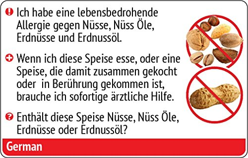 Nuts and Peanut Allergy Translation Card - Translated in French or any of 67 languages by SelectWisely (Image #1)