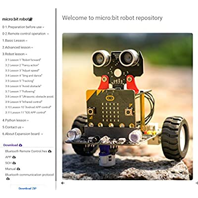 Yahboom-maker Micro:bit DIY Programmable Robot Building Kit STEM Education Toys for Kids Ages 8+ (with Micro:bit Board): Toys & Games