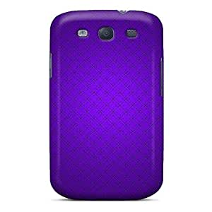 For HTC One M7 Case Cover Crossed Purple Pattern